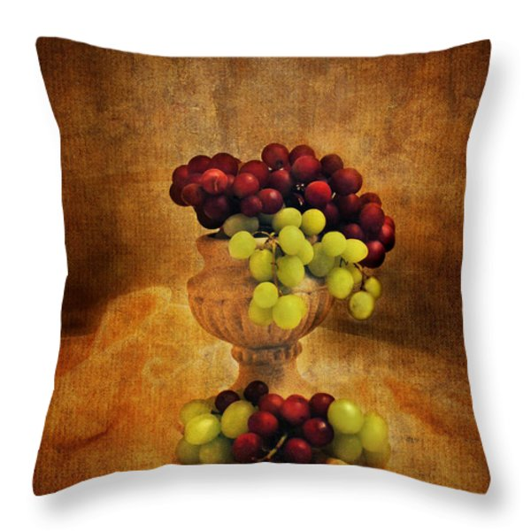 Grapes Throw Pillow by Jai Johnson