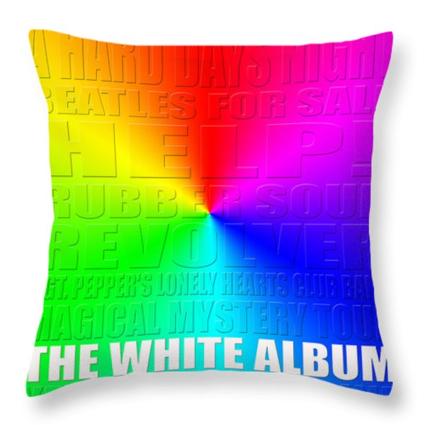 Graphic Beatles Throw Pillow by Andrew Fare