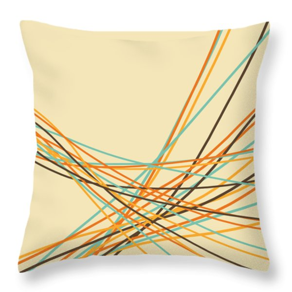 graphic line pattern Throw Pillow by Setsiri Silapasuwanchai