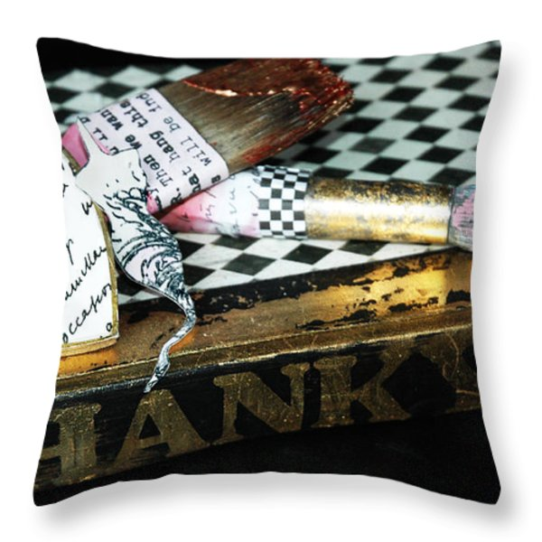 Grateful For Inspiration Throw Pillow by Anahi DeCanio