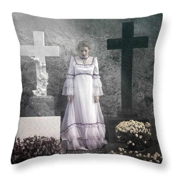 Graves Throw Pillow by Joana Kruse
