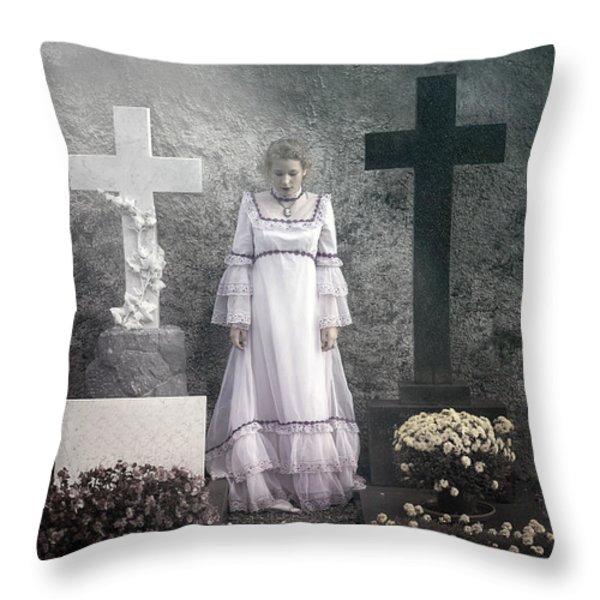 graves Throw Pillow by Joana Kruse