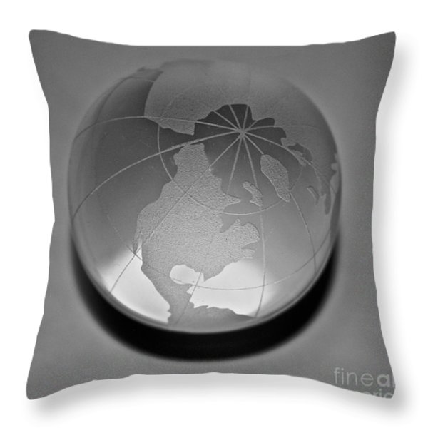 Gray Throw Pillow by Susan Herber