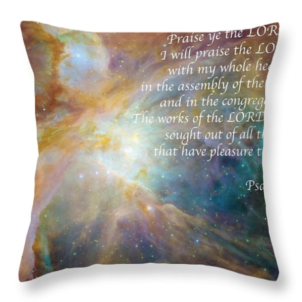 Great Are His Works Throw Pillow by Michael Peychich