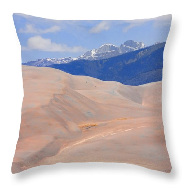 Great Colorado Sand Dunes Throw Pillow by James BO  Insogna