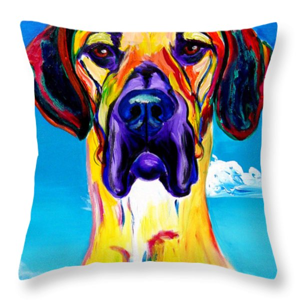 Great Dane - Philosopher Throw Pillow by Alicia VanNoy Call