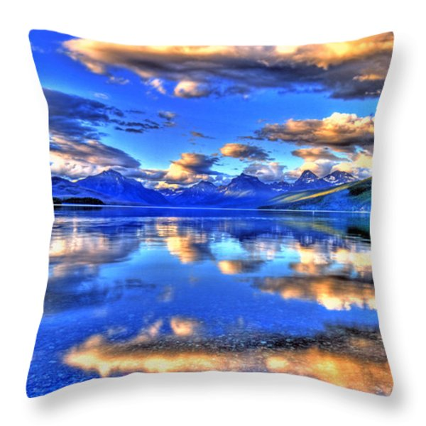 Great Glacier Lake Throw Pillow by Scott Mahon