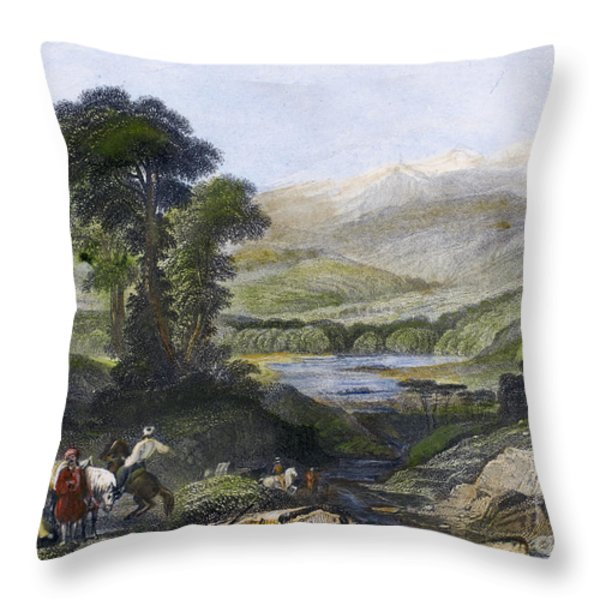 Greece: Mount Olympus Throw Pillow by Granger