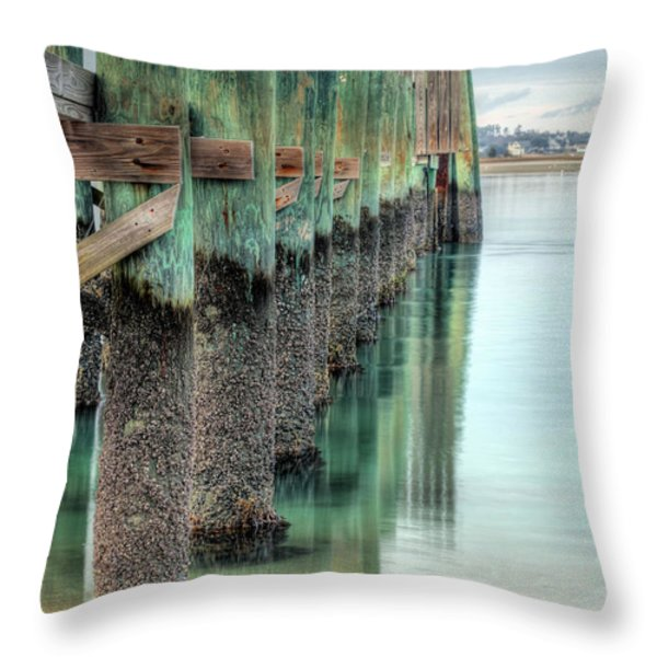 Green Day Throw Pillow by JC Findley