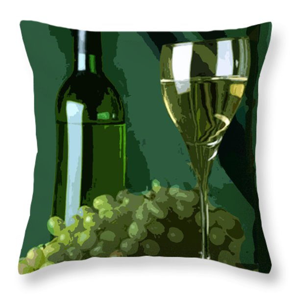 Green is White Throw Pillow by Elaine Plesser