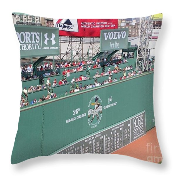 Green Monster Throw Pillow by Kevin Fortier