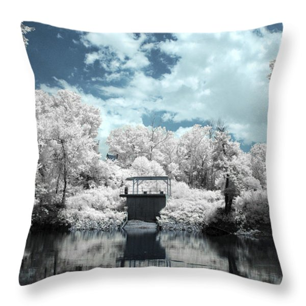 Green River Ir Throw Pillow by Amber Flowers