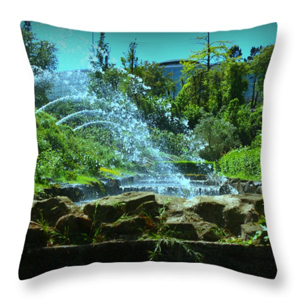Green Scenery Throw Pillow by Kevin Flynn