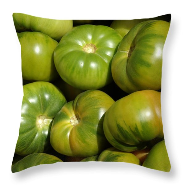 Green Tomatoes Throw Pillow by Frank Tschakert