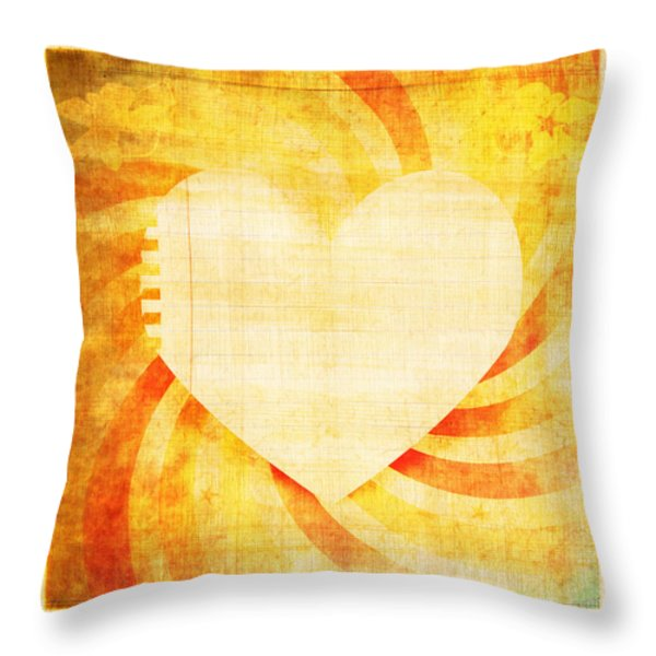greeting card Valentine day Throw Pillow by Setsiri Silapasuwanchai