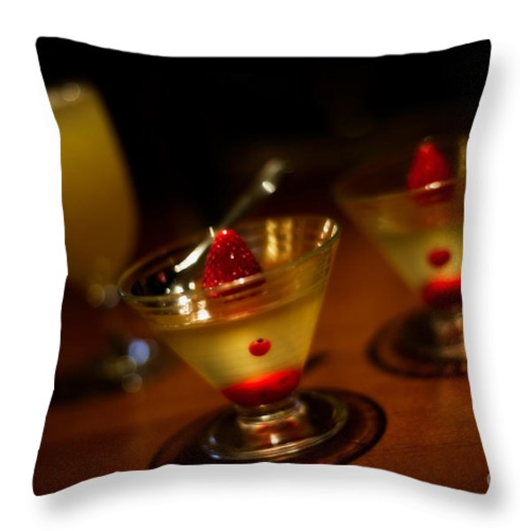 Grown-Up Jello Throw Pillow by Venetta Archer