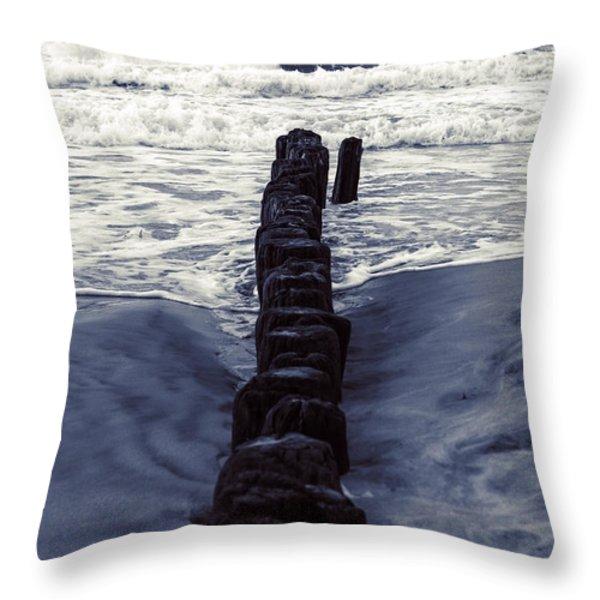 groyne Throw Pillow by Joana Kruse