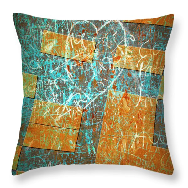 Grunge Background 6 Throw Pillow by Carlos Caetano