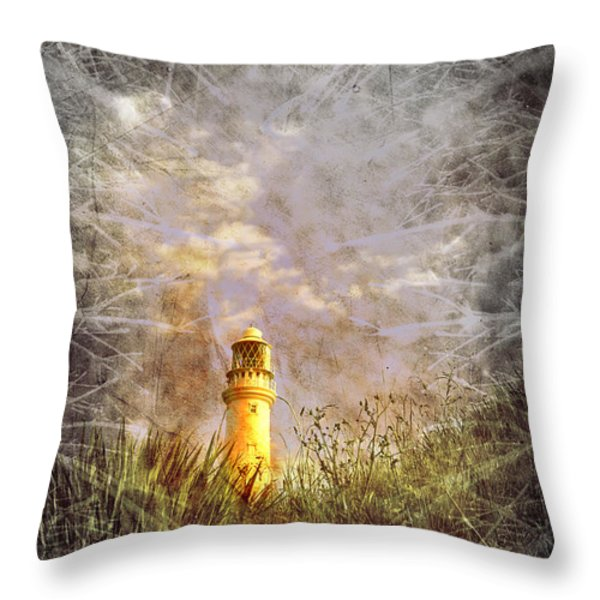 Grunge Light House Throw Pillow by Svetlana Sewell