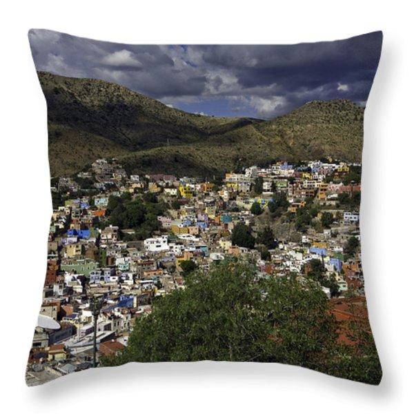 Guanajuato Vista No. 1 Throw Pillow by Lynn Palmer