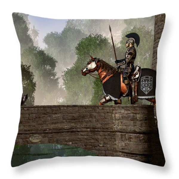 Guards Of The Forgotten Gate Throw Pillow by Daniel Eskridge