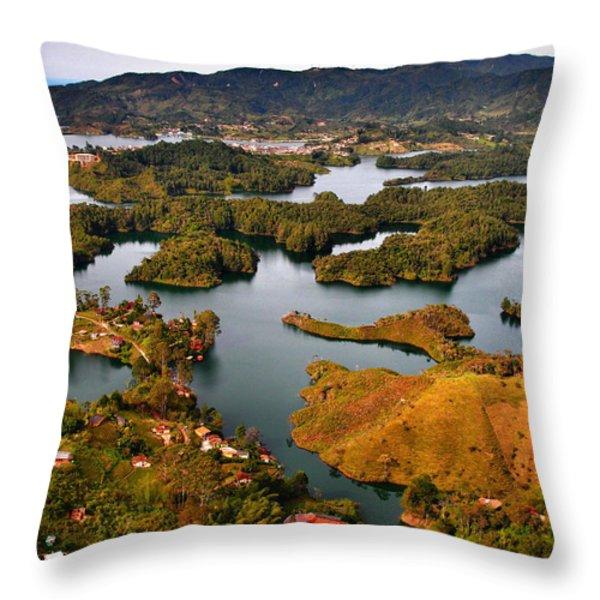 Guatape Throw Pillow by Skip Hunt