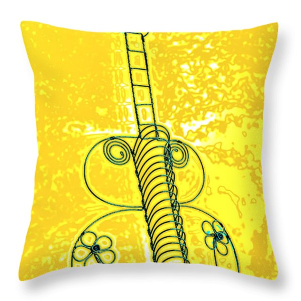 Guitar 2c Throw Pillow by Mauro Celotti