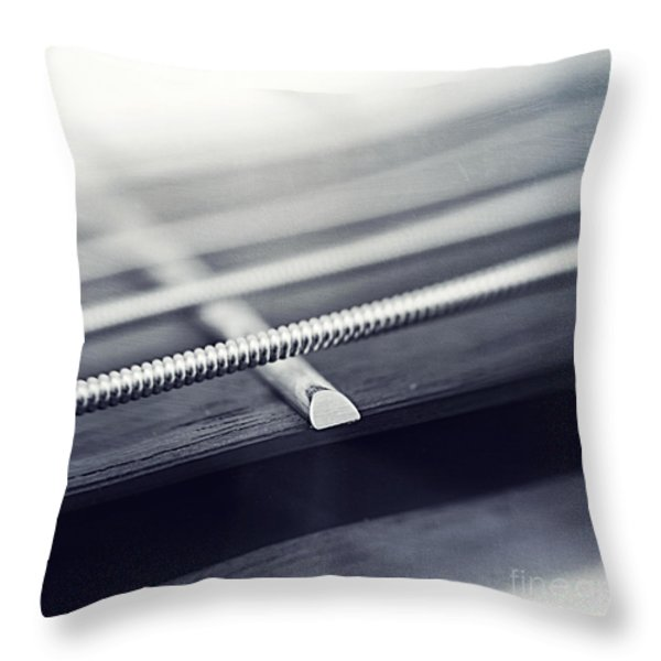 guitar IV Throw Pillow by Priska Wettstein