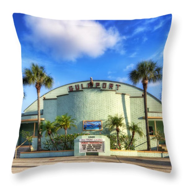 Gulfport Casino Throw Pillow by Tammy Wetzel