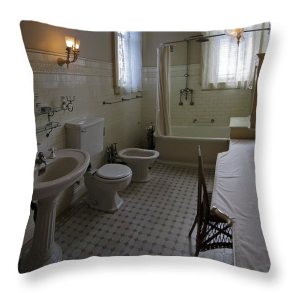 HAAS LILIENTHAL HOUSE VICTORIAN BATH - SAN FRANCISCO Throw Pillow by Daniel Hagerman