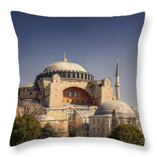 Hagia Sophia Throw Pillow by Joan Carroll