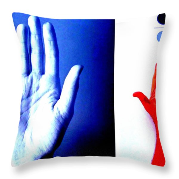 Handmade In America Throw Pillow by Randall Weidner