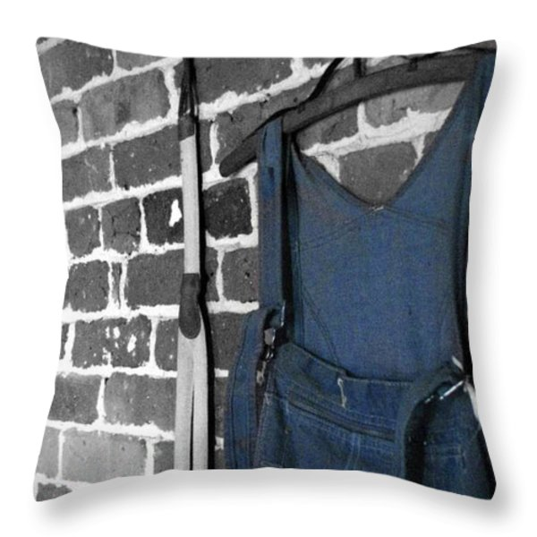 Hangin' Around Throw Pillow by Jessica Brawley