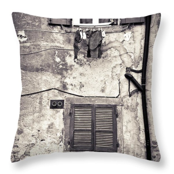 Hanging Out To Dry Throw Pillow by Silvia Ganora