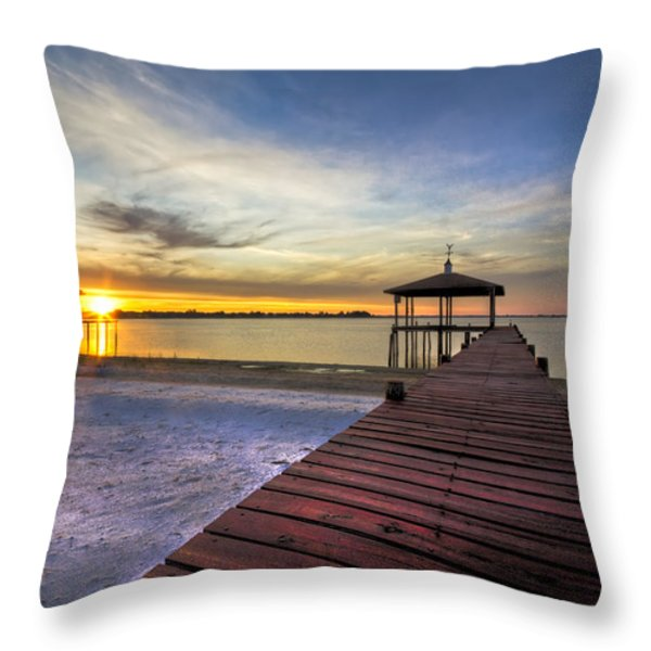 Happiest Hour Throw Pillow by Debra and Dave Vanderlaan