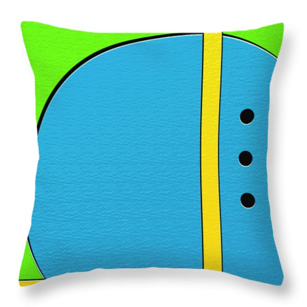 Happily Throw Pillow by Ely Arsha
