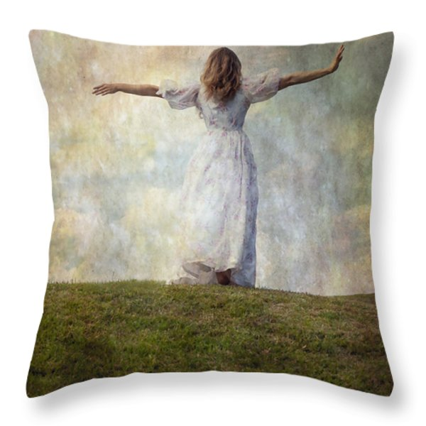 happiness Throw Pillow by Joana Kruse