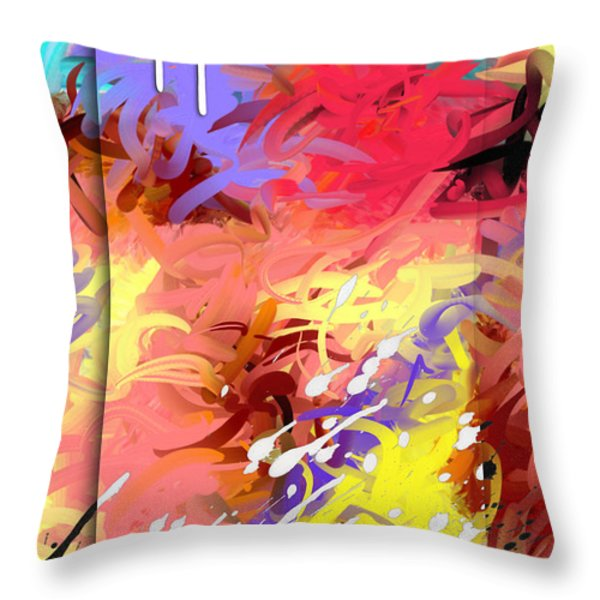 Happiness Throw Pillow by Snake Jagger