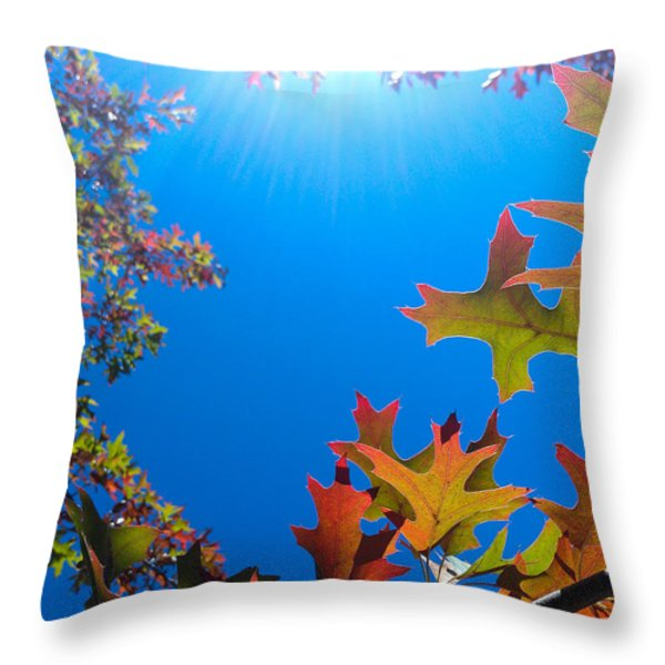 Happy Autumn Throw Pillow by CML Brown