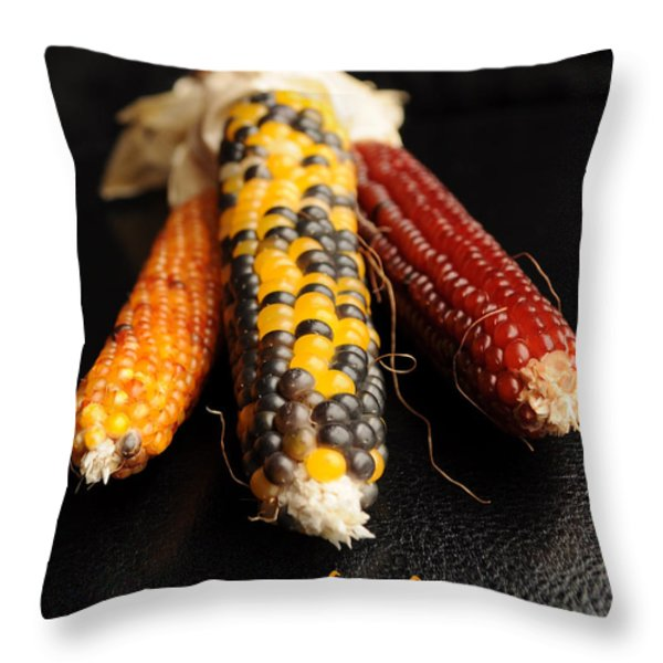 Happy Thanksgiving Card No.1 Throw Pillow by Luke Moore