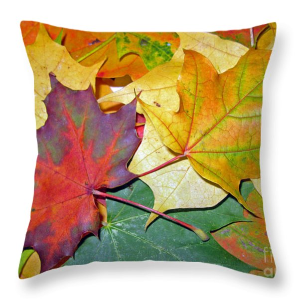 Happy We Are Together Throw Pillow by Ausra Paulauskaite