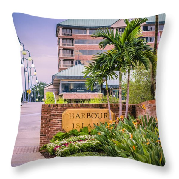 Harbour Island Retreat Throw Pillow by Carolyn Marshall