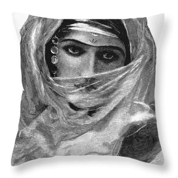 Harem Woman, 19th Century Throw Pillow by Granger