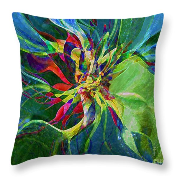 Harlequin Poinsettia Throw Pillow by RC DeWinter