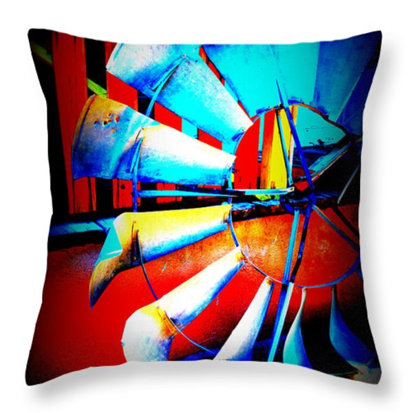 Harlequin Wind Throw Pillow by Diane montana Jansson