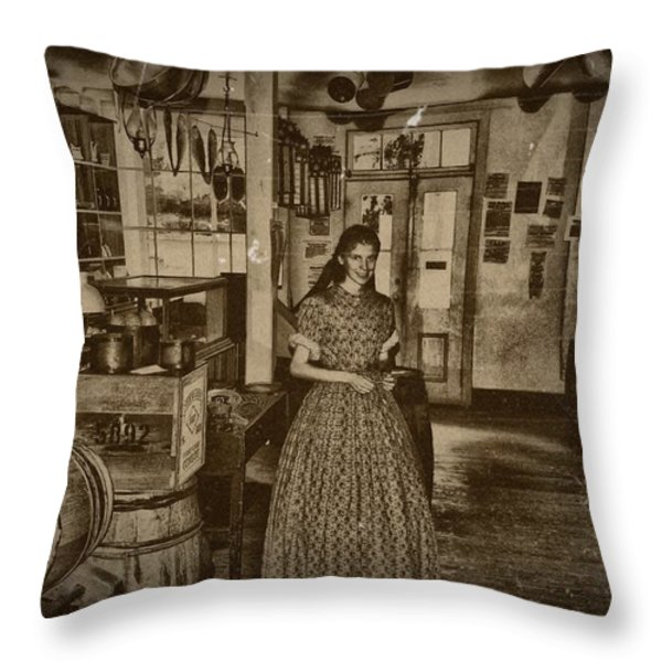 Harpers Ferry General Store Throw Pillow by Bill Cannon
