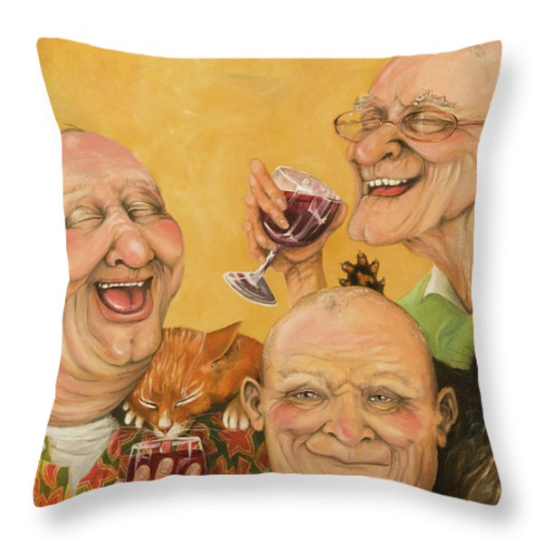 Harry's Lodge Meeting Throw Pillow by Shelly Wilkerson