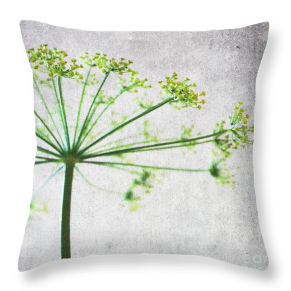 Harvest Starbust 3 Throw Pillow by Linda Woods