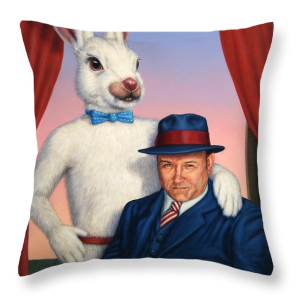 Harvey And Randall Throw Pillow by James W Johnson