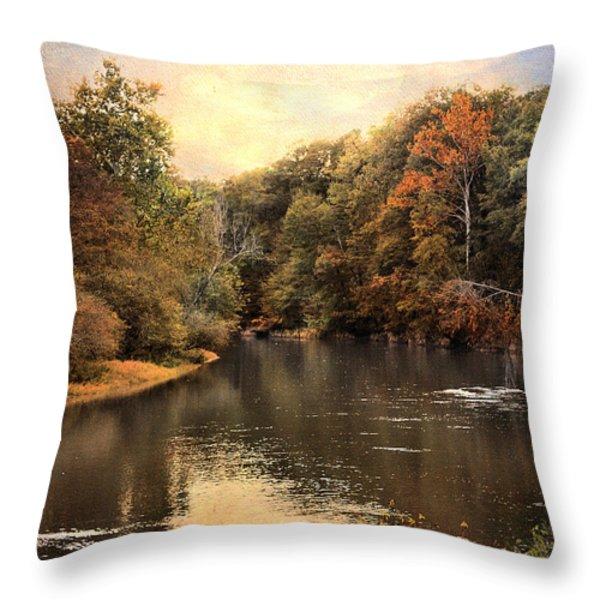 Hatchie River Throw Pillow by Jai Johnson